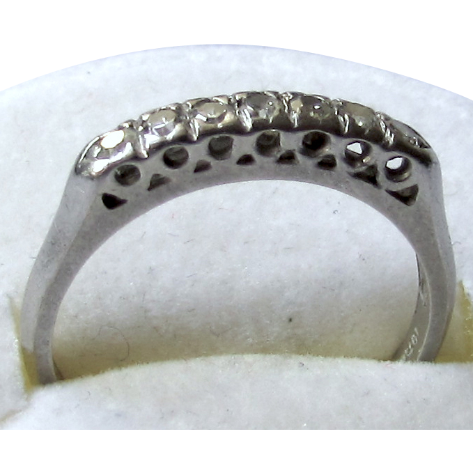 Vintage Platinum Diamond Anniversary Band ca. 1920