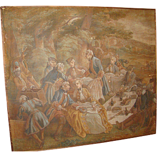 "Early Painting of ""Picnic with George Washington"""