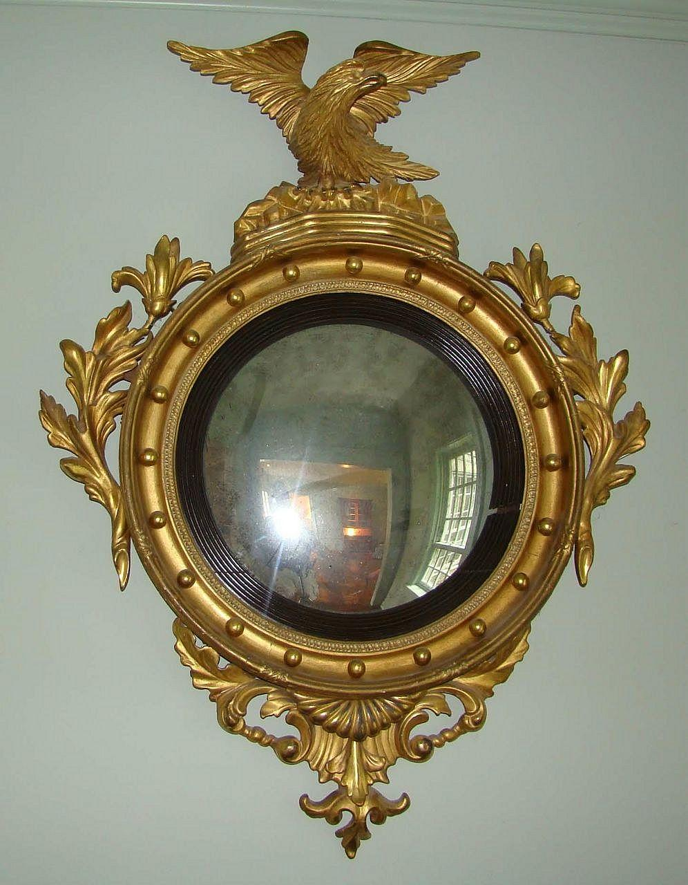 federal period convex mirror wayne mattox antiques