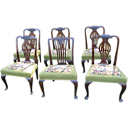 Set 5 Queen Anne Dining Chairs