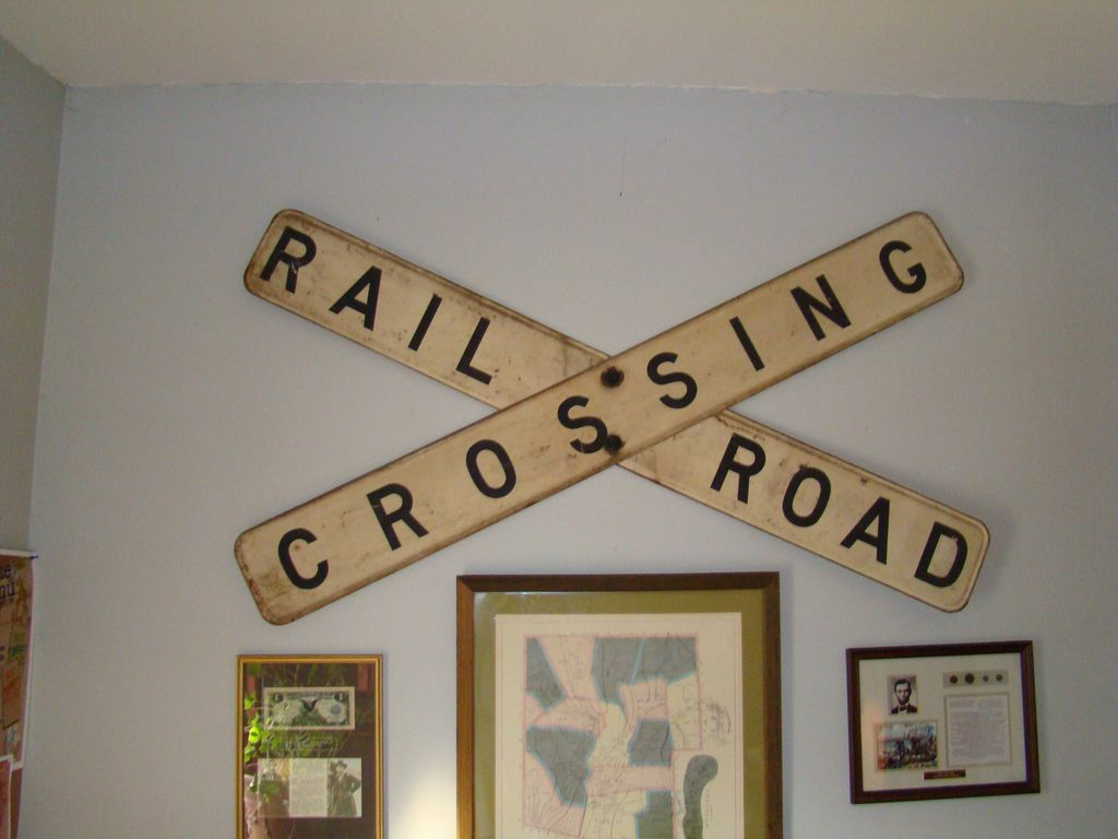 Railroad Crossing Sign From Wayne Mattox Antiques On Ruby Lane