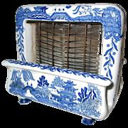 Rare Toastrite Blue Willow Ceramic Electric Toaster