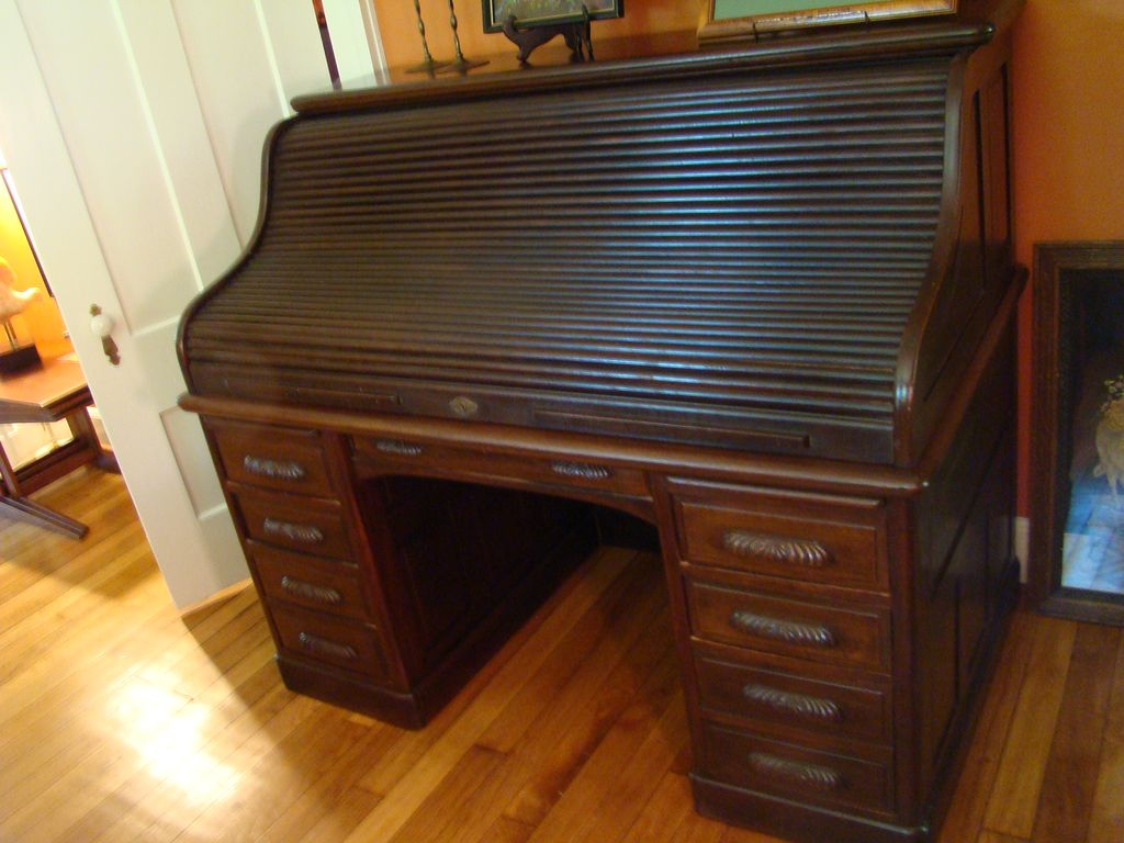 Victorian Black Walnut S Shaped Roll Top Desk Item On Hold Pending Sold Ruby Lane