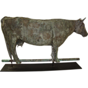Antique American Folk Art Dairy Cow Weathervane