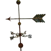 Floor Standing American Antique Arrow Weathervane