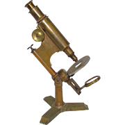 c1885 Bausch & Lomb First Model Microscope