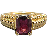 14K Gold Ring Set With Garnet