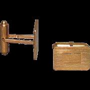 14K Solid Gold Cufflinks 9.4 Grams