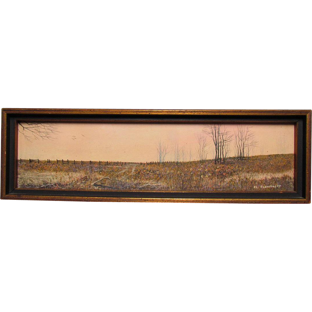 J.L. Egenstafer Oil Painting on Panel:  Wildflower Field American Realism