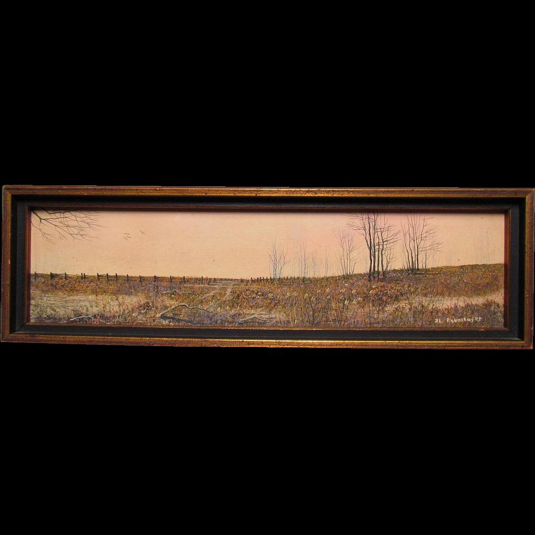J.L. Egenstafer Oil Painting on Panel:  Wildflower Field American Realism