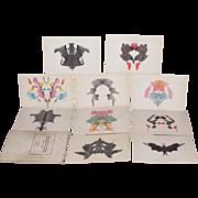 1948 Hermann Rorschach Psychodiagnostics Tafeln Plates Set Hans Huber Bern Swiss