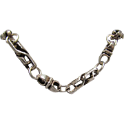 30-Inch Heavy Unique Chain Link Sterling Necklace