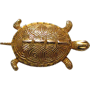 10K Solid Gold Diamondback Terrapin Tie Tac Lapel Pin