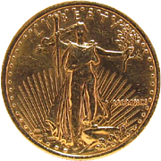 1991 Liberty $10 US Gold Bullion Coin ¼ OZ