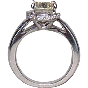 2.32 Carat Center Diamond In Custom Designed 14K White Gold Ring