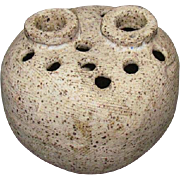 Rising Fawn Mid-Century Pottery Vase Attributed To Charles Counts (Studio)