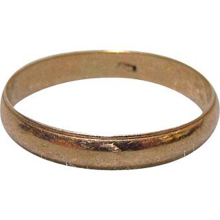 3.5 mm 14K Gold Band c1900