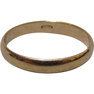 3 mm 14K Gold Band c1900