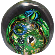 1993 Henry Vitra Art Glass Coral Reef Millefiori Paperweight