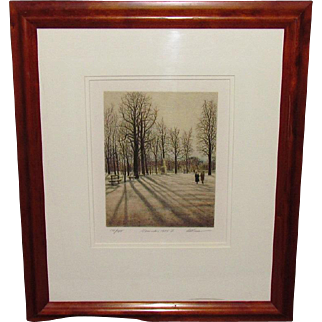 Harold Altman Lithograph Central Park November 1984 II Signed