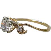 14K Gold ¾ Carat .75ct. H-I/VVS1 Diamond Ring 1945