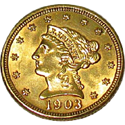 US 1903 $2½ Dollar Quarter Eagle Gold Coin
