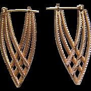 14K Gold Geometric Earrings