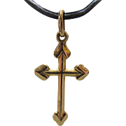 18K Gold European Cross