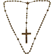 14K Gold Rosary c1895 to 1930s Sloan & Co.