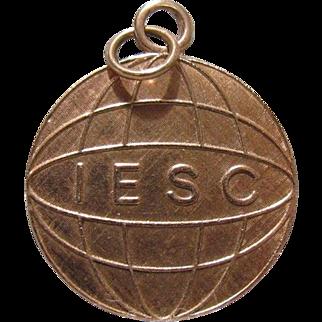 14K Gold IESC Pendant SEC Costa Rica 1976