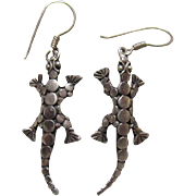 Sterling Silver Gecko Earrings