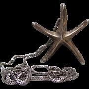 Sterling Silver Starfish Pendant & Box Chain