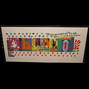Original Henri Matisse 1001 Nights Juin '50 Color Litho On Paper