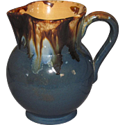 ¾ Pint Drip Glaze Stoneware Pitcher
