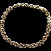 14K Gold Hearts Bracelet