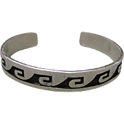 Hopi Sterling Bracelet Bear Paw Mark