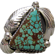 Navajo Sterling & Turquoise Ring Robert Kelly