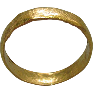 24K Pure Gold Medieval Band c1000AD
