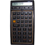 1987 Hewlett Packard HP 41CX Calculator With Math/Stat Program