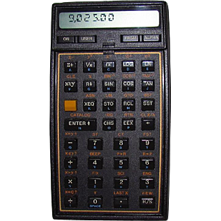 1987 Hewlett Packard HP 41CX Calculator With Math/Stat Program