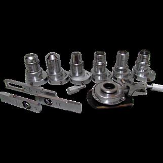 Leitz Wetzlar Universal Stage & Polarizing Microscope Objective Set