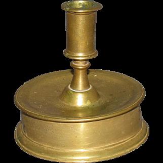 16th Century Flemish Brass Candlestick