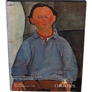 Christie's Nov. 7, 1995 Catalog Important Paintings & Sculpture