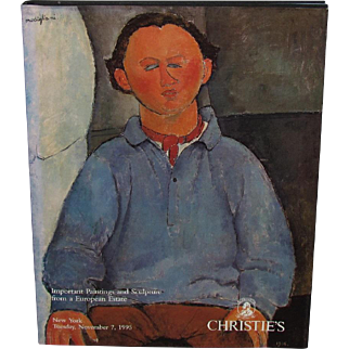 Christie's Nov. 7, 1995 Catalog Important Paintings & Sculpture