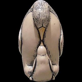 Vintage Comoy's Of London Faux Scrimshaw Penguin Figure