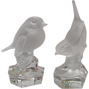 Goebel Collection Lead Crystal Sparrow & Wren Paperweights
