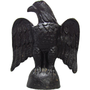 19th Century Cast Iron Bald Eagle Flagpole Topper Paperweight