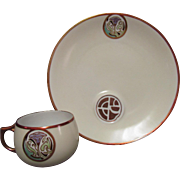 Art Nouveau RS Germany Porcelain Cup and Finger Sandwich Plate
