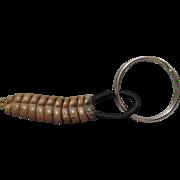 Vintage Rattlesnake Rattle Keychain