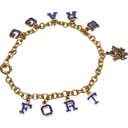 WW2 Fort Bragg US Army Sweetheart Bracelet